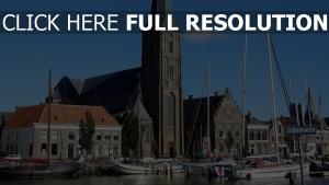 kirche hafen niederlande schiff holland