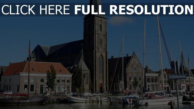 hd hintergrundbilder kirche hafen niederlande schiff holland