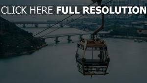 insel luftseilbahn lantau kabine hong kong
