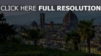 toskana kuppel florenz palmen italien