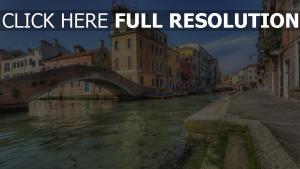 fluss brücke venedig häuser italien