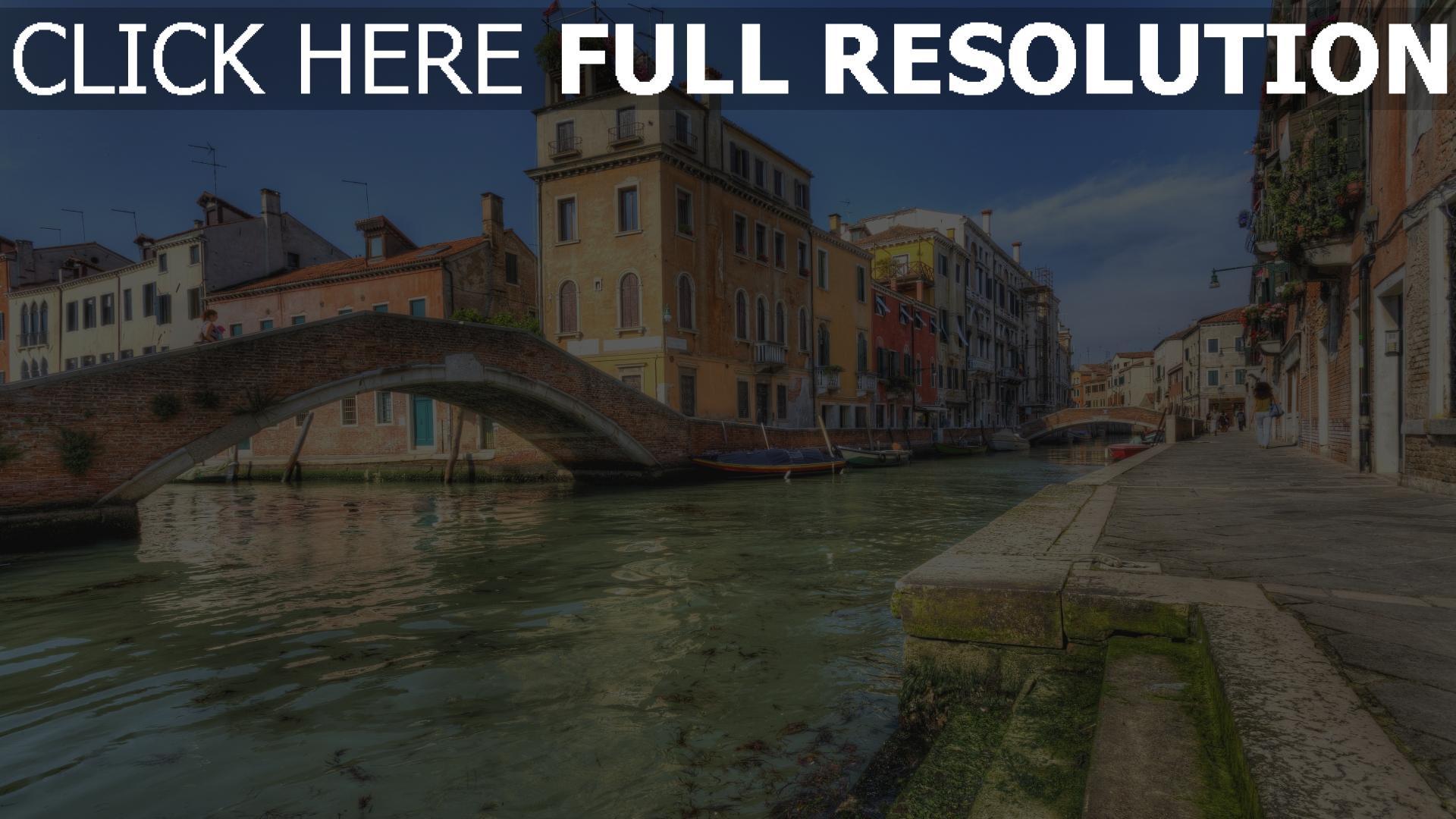 Häuser Italien hd hintergrundbilder fluss brücke venedig häuser italien desktop