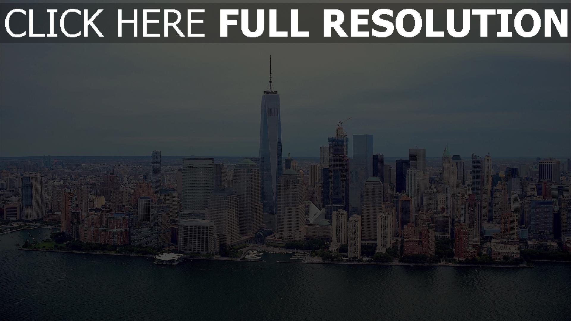 hd hintergrundbilder skyline wolkenkratzer manhattan new york 1920x1080