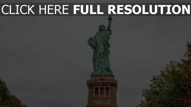 hd hintergrundbilder skulptur statue der freiheit new york
