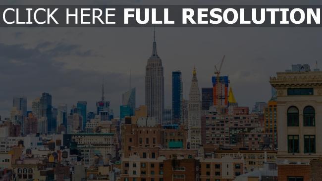 hd hintergrundbilder wolkenkratzer gebäude usa new york
