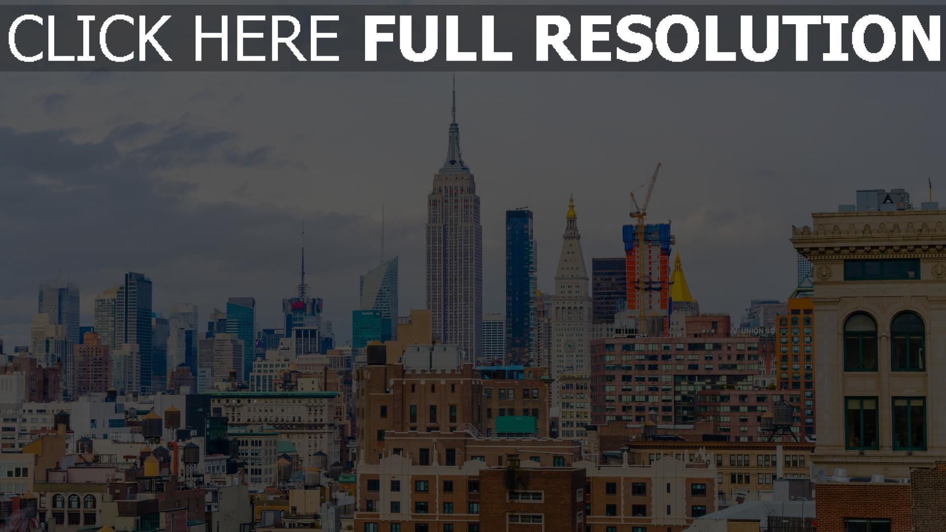 hd hintergrundbilder wolkenkratzer gebäude usa new york 1920x1080