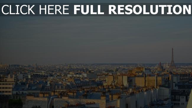 hd hintergrundbilder panorama eiffelturm paris