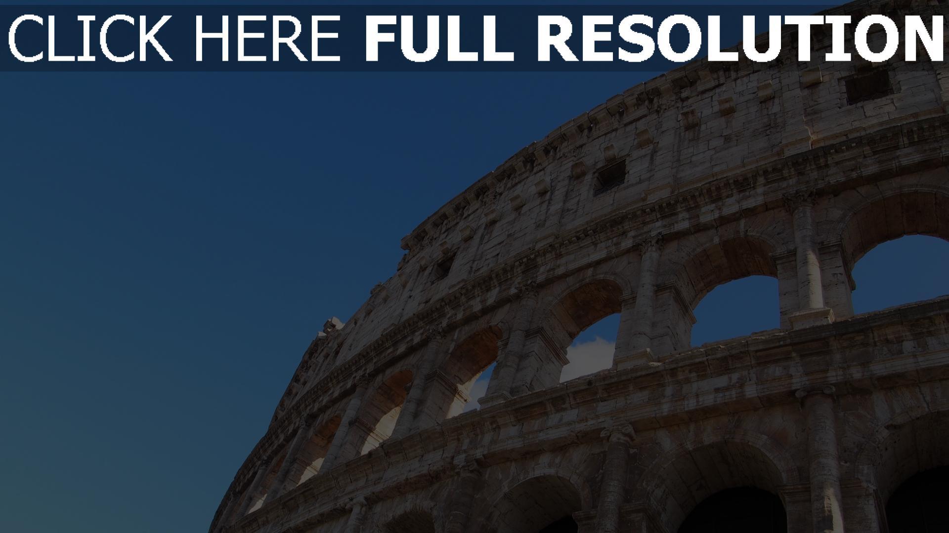 hd hintergrundbilder kolosseum architektur italien rom 1920x1080