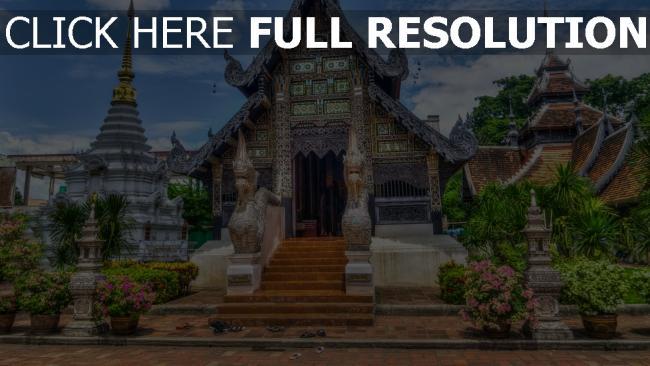 hd hintergrundbilder chiang mai hdr tempel thailand