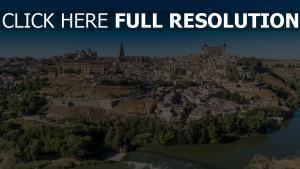 fluss panorama spanien toledo