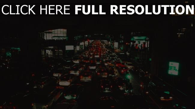 hd hintergrundbilder siam metropole bangkok verkehr