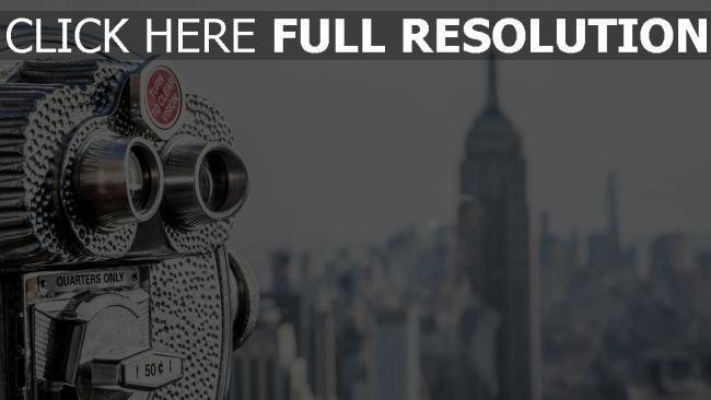 hd hintergrundbilder manhattan das rockefeller center new york fernglas usa