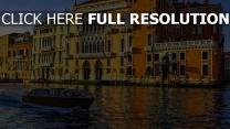 italien boot kanal venedig