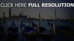 gondeln fluss italien venedig