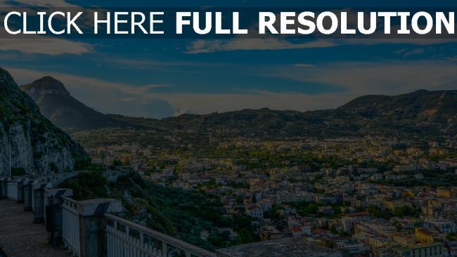 hd hintergrundbilder berge architektur italien amalfi