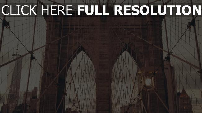 hd hintergrundbilder brücke architektur new york brooklyn
