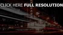 nacht stadt illinois verkehr chicago