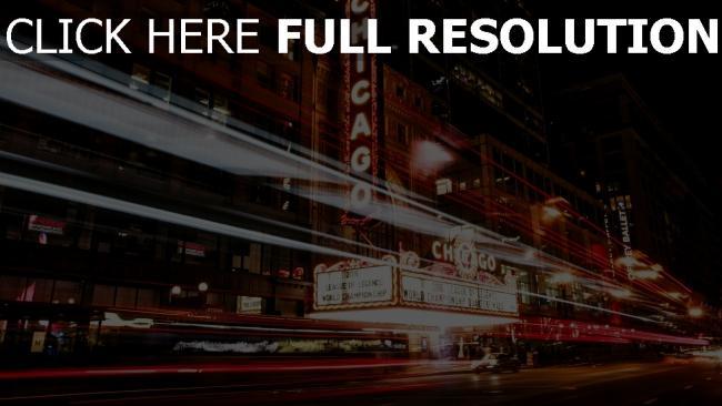 hd hintergrundbilder nacht stadt illinois verkehr chicago