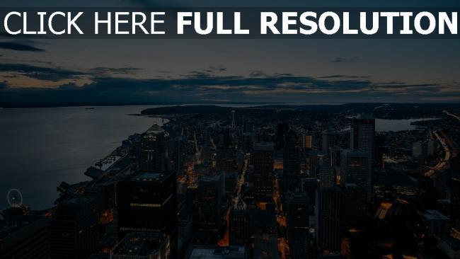hd hintergrundbilder wolkenkratzer ansicht von oben nacht stadt