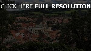 architektur bäume gebäude tschechische republik