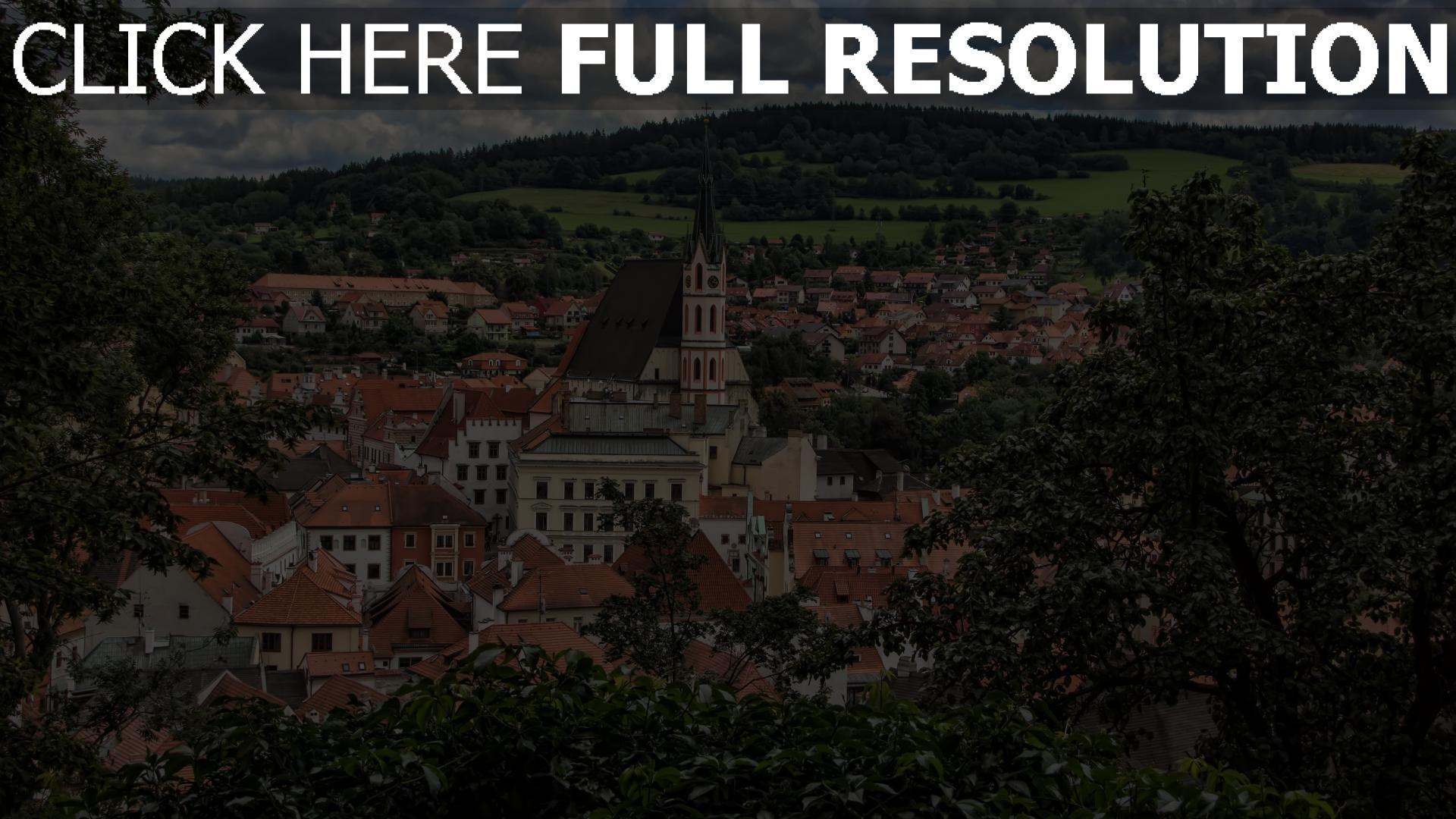 hd hintergrundbilder architektur bäume gebäude tschechische republik 1920x1080