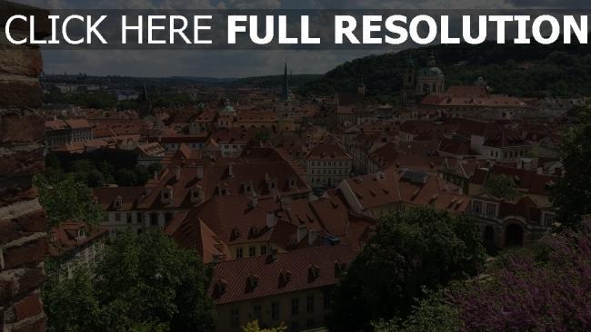 hd hintergrundbilder gebäude ansicht von oben altstadt tschechische republik