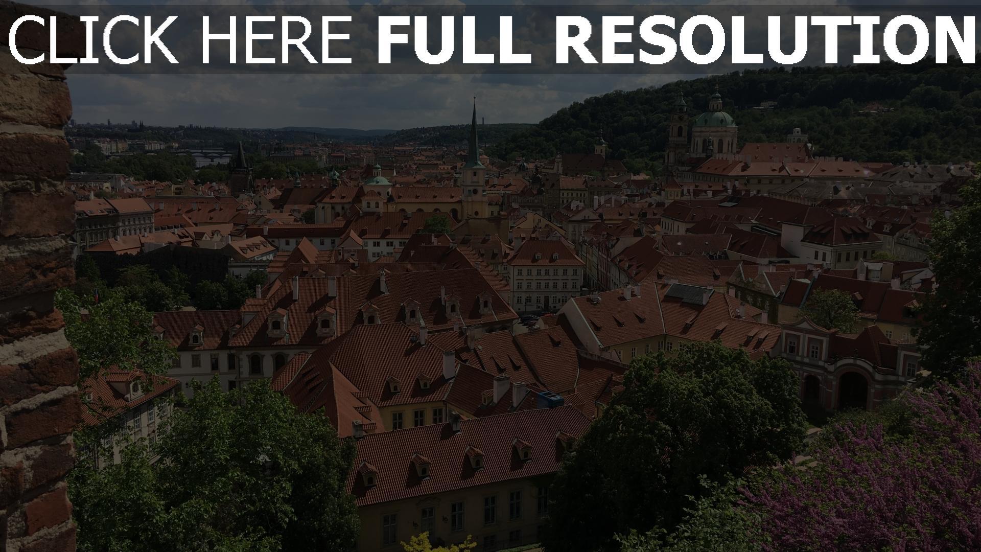 hd hintergrundbilder gebäude ansicht von oben altstadt tschechische republik 1920x1080