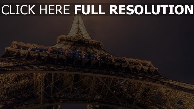 hd hintergrundbilder unteransicht paris eiffelturm