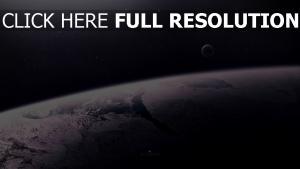 planeten satelliten oberfläche sterne