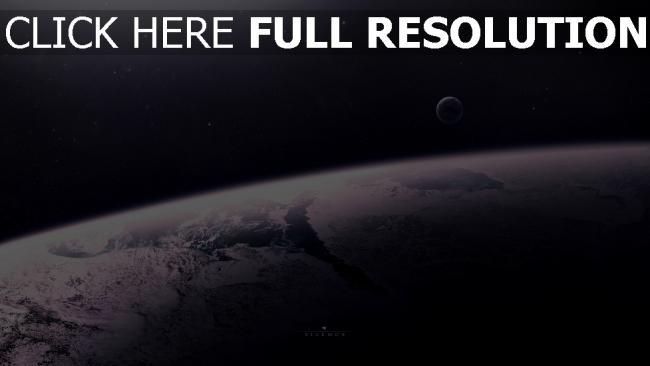 hd hintergrundbilder planeten satelliten oberfläche sterne