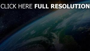 planet erde sonne sonnenaufgang wolken meer