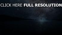 himmel sterne milchstraße straße silhouette