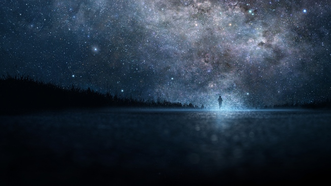 hd hintergrundbilder himmel sterne milchstraße straße silhouette