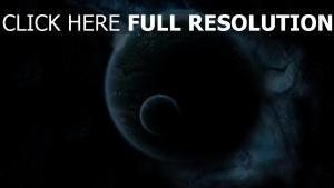 planeten mond erde nebel wolken