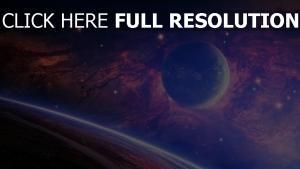 planeten mond sterne nebelfleck licht