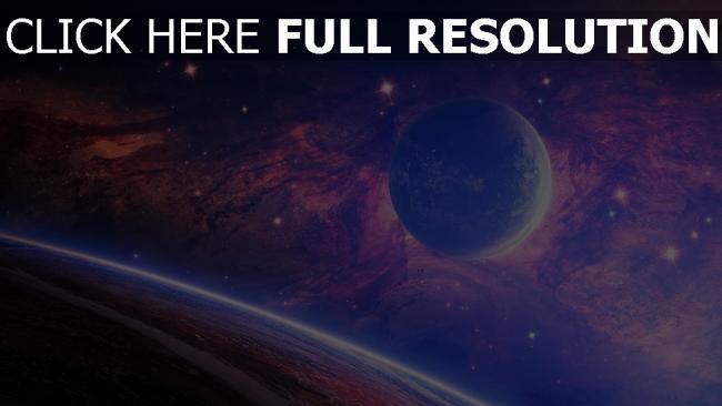 hd hintergrundbilder planeten mond sterne nebelfleck licht