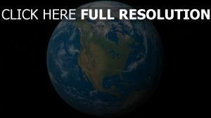 planet erde wolken kontinenten sterne
