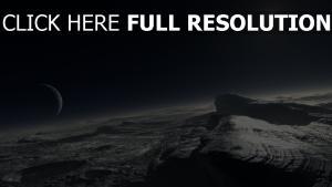 pluto planet oberfläche sterne