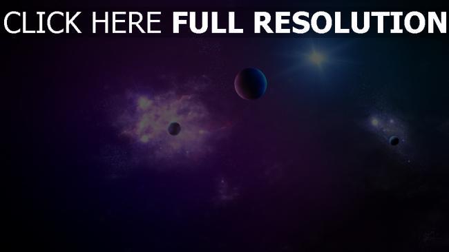 hd hintergrundbilder planeten sterne funkeln glühen schatten
