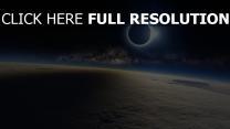 planeten mond eclipse milchstraße