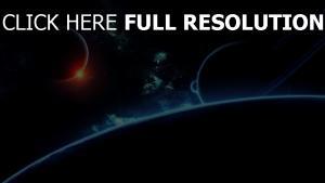 planeten dunkel erde saturn nebelfleck
