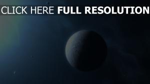 planeten glühen schatten dunst