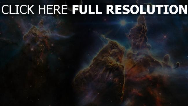 hd hintergrundbilder nebel explosionen rauch glühen planeten