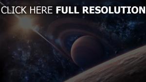 planet erde saturn sonne sterne