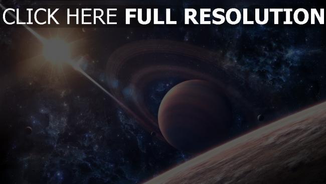 hd hintergrundbilder planet erde saturn sonne sterne