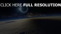 erde wolken planeten mond verfinsterung