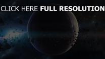 planeten fragmente licht asteroiden