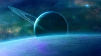 planeten sterne ringe glanz