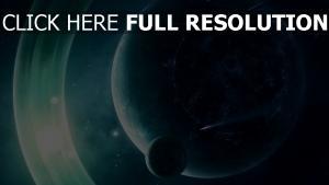 planet mond licht glühen umlaufbahn