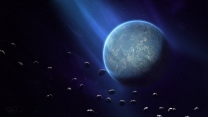 planeten asteroiden lichter rauch sternen